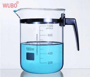 Lab-glassware-1000ml-Laboratory-Glass-Measuring-Beaker-with-Spout-Borosilicate-Transparent-with-Plastic-Handle