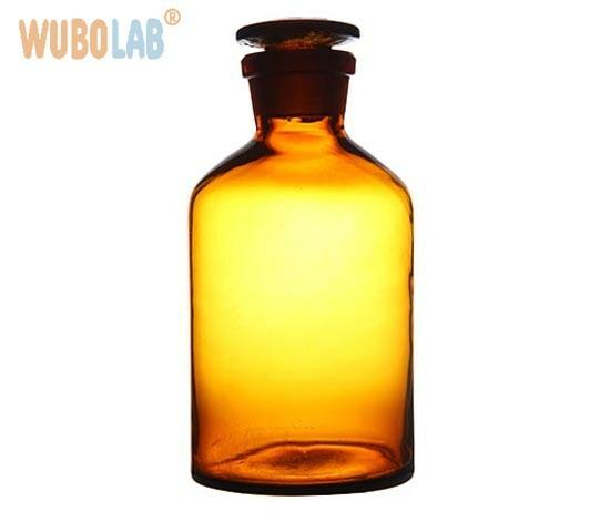 Bottles,-Reagent,-Narrow-Neck,-Amber,-Glass-Stopper