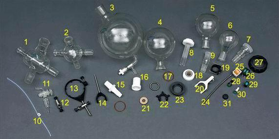 Parts and accessories of rotary evaporator